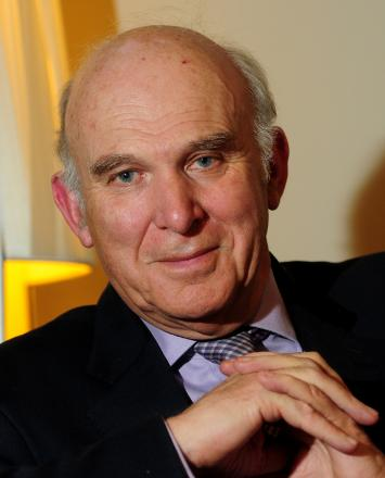 Vince Cable speaking ahead of the Lib Dem           conference