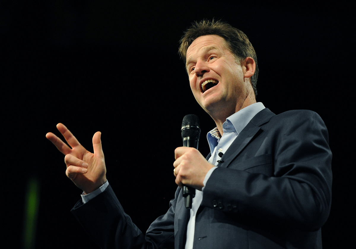 Lib Dem spring conference: Nick Clegg backs power shift to the north