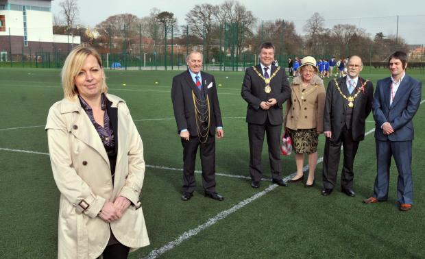 SPORTING CHANCE: The Lord Mayor of York, Coun Julie Gunnell, and the Mayor of Harrogate, Coun Michael Newby, at the North Yorkshire sport launch at York College              Picture: Nigel Holland