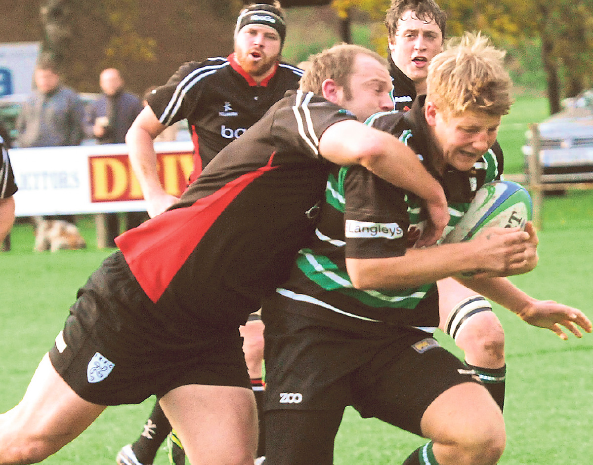 Forward Sam Thorpe, pictured with the ball, is in fine form for York RUFC according to the Clifton Park club's head coach, Sean Bass