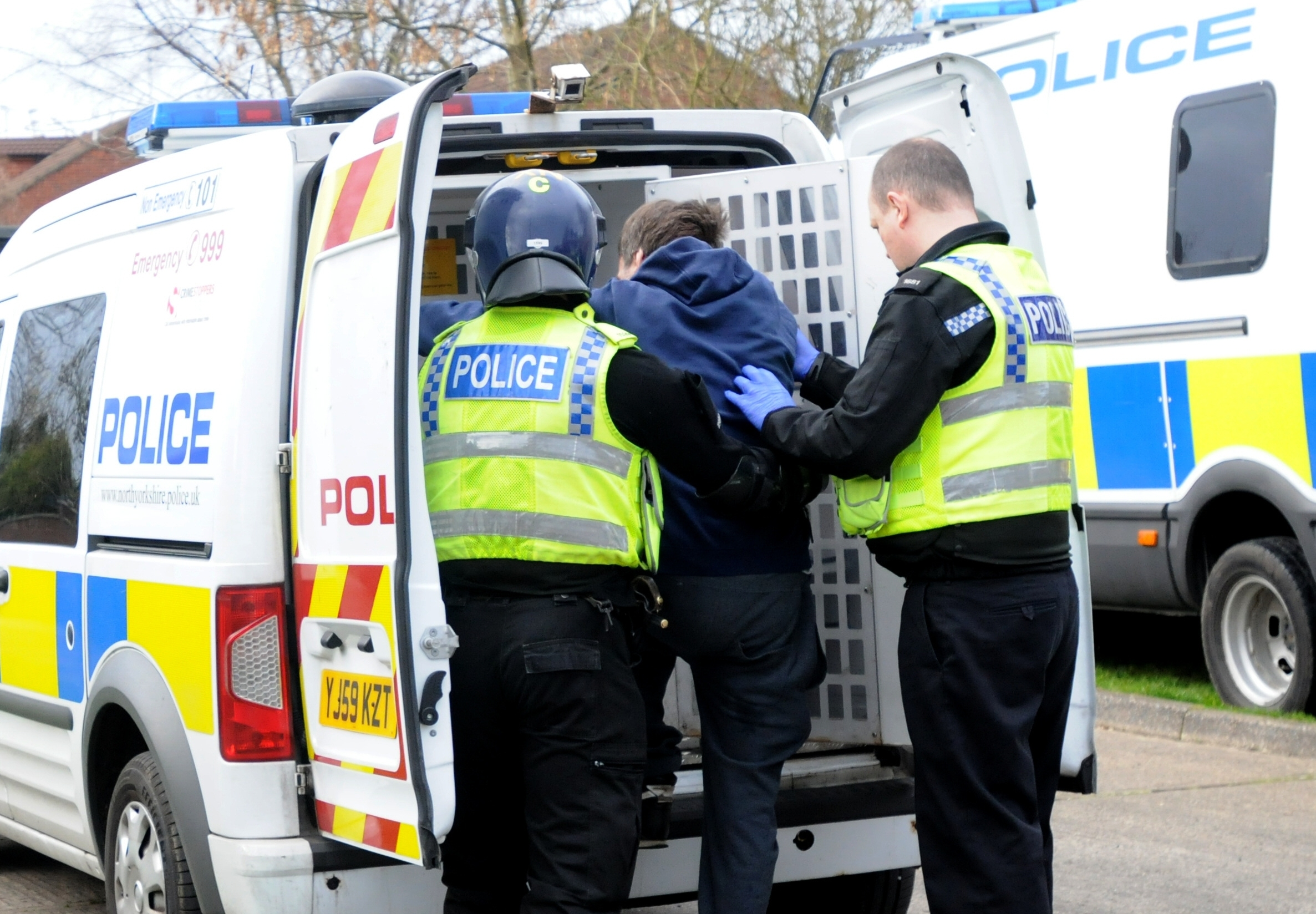 CRACKDOWN: A  man is arrested after a drugs raid in Jute Road, Acomb, York