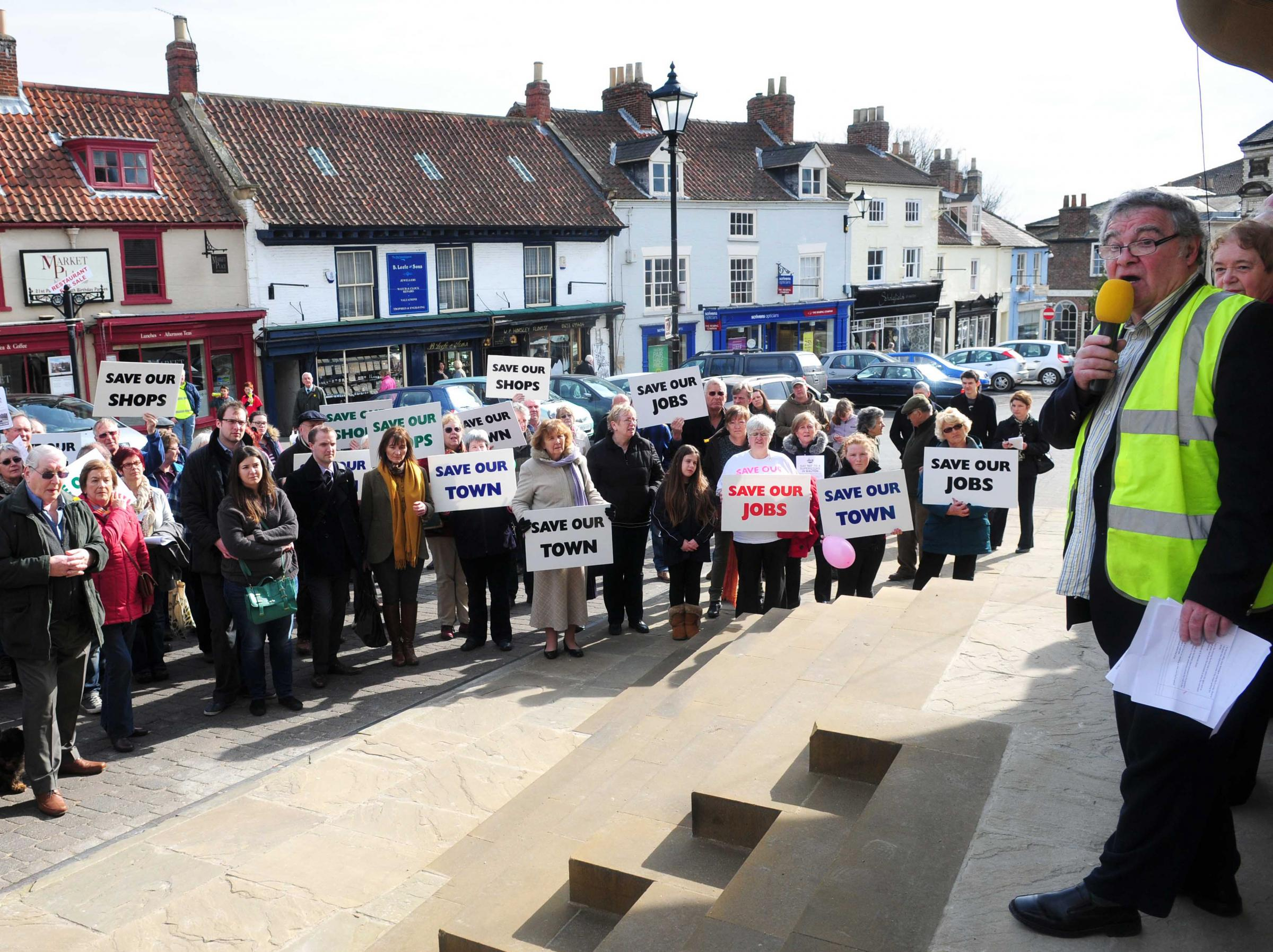 Public protest over supermarket plans