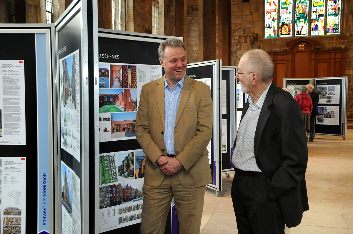 Nigel Ingram, from Joseph Rowntree Housing Trust, left, and Philip Crowe, from the York Environment Forum