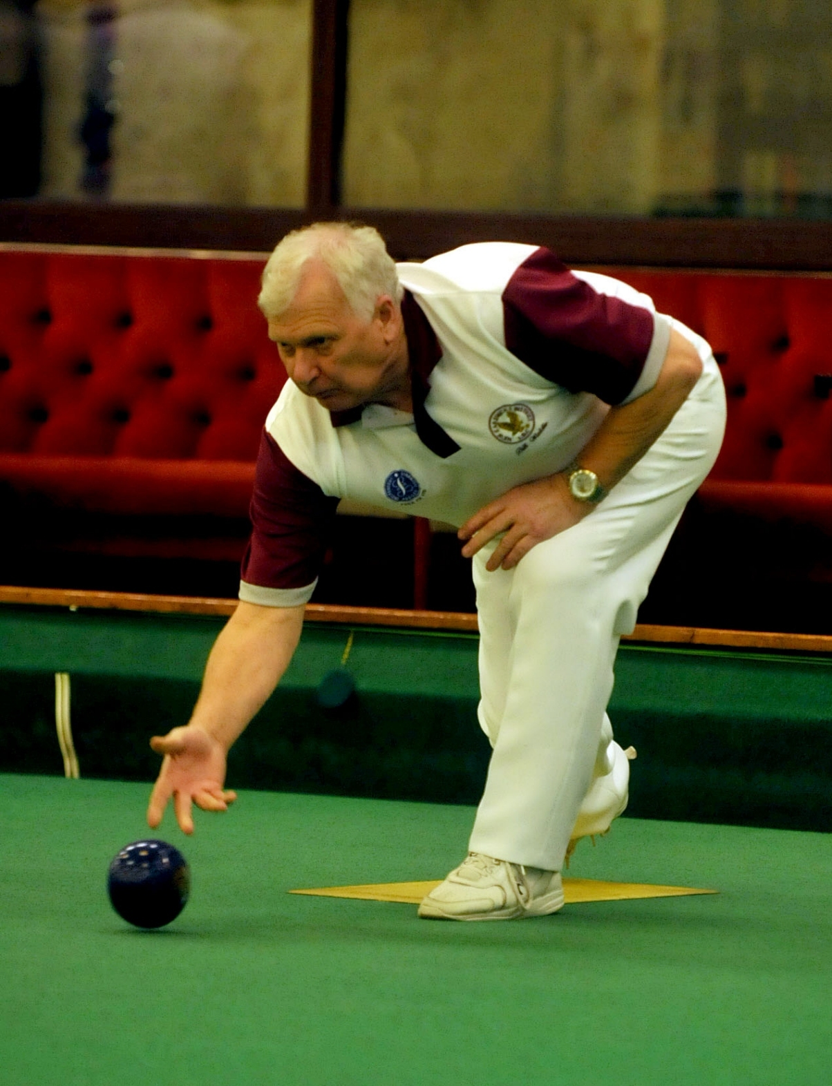 New Earswick Indoor Bowls Club player Bill Waldie