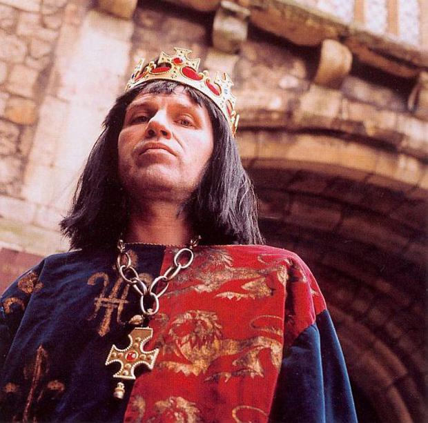 Mike Bennett in his one-man show, An Audience with King Richard III.