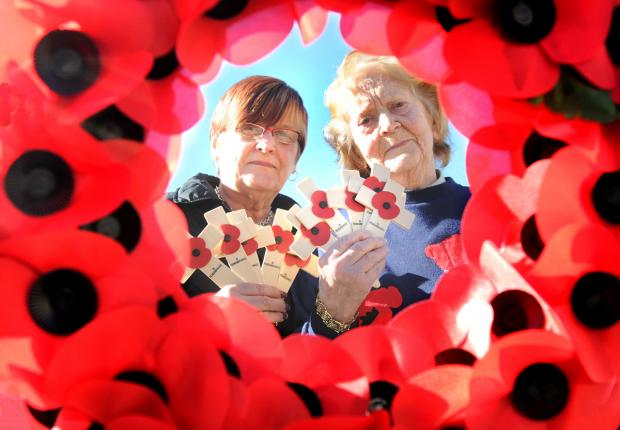 Janet Martin, left, Poppy Appeal organiser, and Margaret Atkinson, of the Pickering and Thornton-le-Dale branch of the Royal British Legion, who are providing crosses and wreaths for people visiting war graves