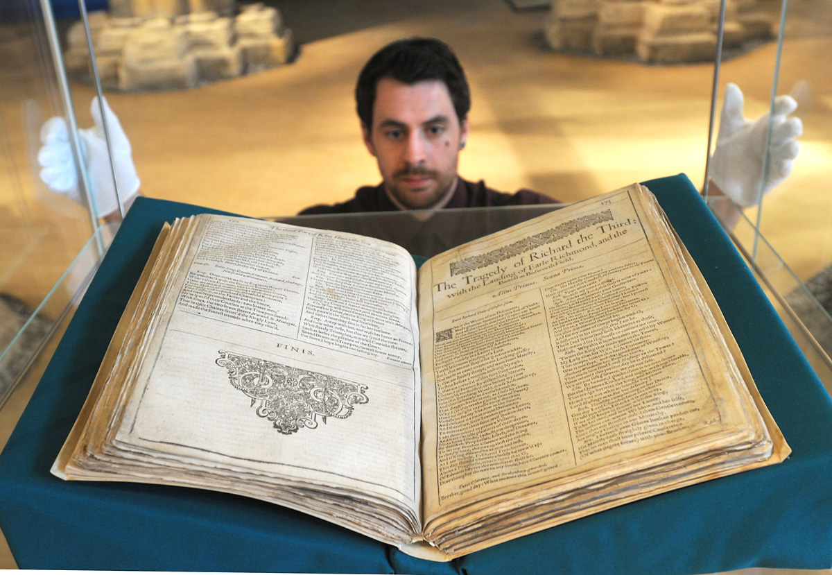 Shakespeare's First Folio goes on display at the Yorkshire Museum