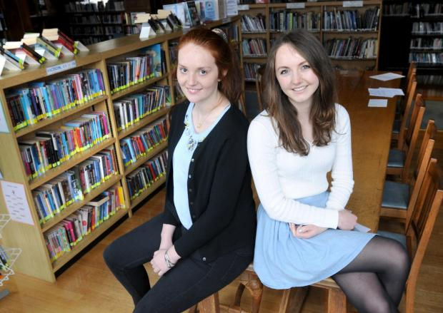 (L-R) Alice Grierson, the Lydia Rous Scholarship recipient with Holly Gardiner who has won the  William Akroyd Scholarship  both pupils at the Mount School, York    Picture Frank Dwyer