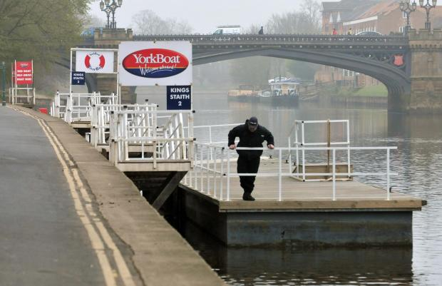York Press: The scene near the River Ouse in York this morning