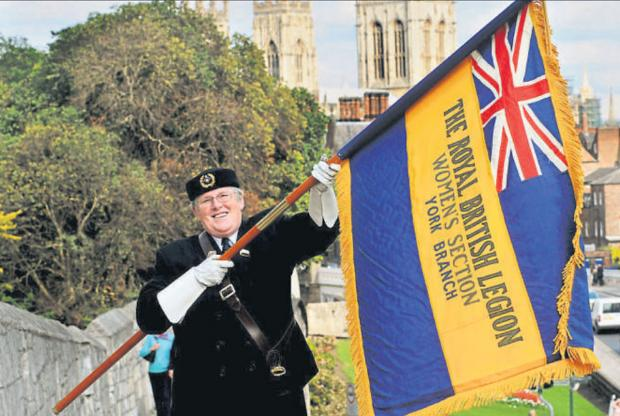 : Royal British Legion standard bearer Marie Taylor, who has been nominated for a Community Pride award