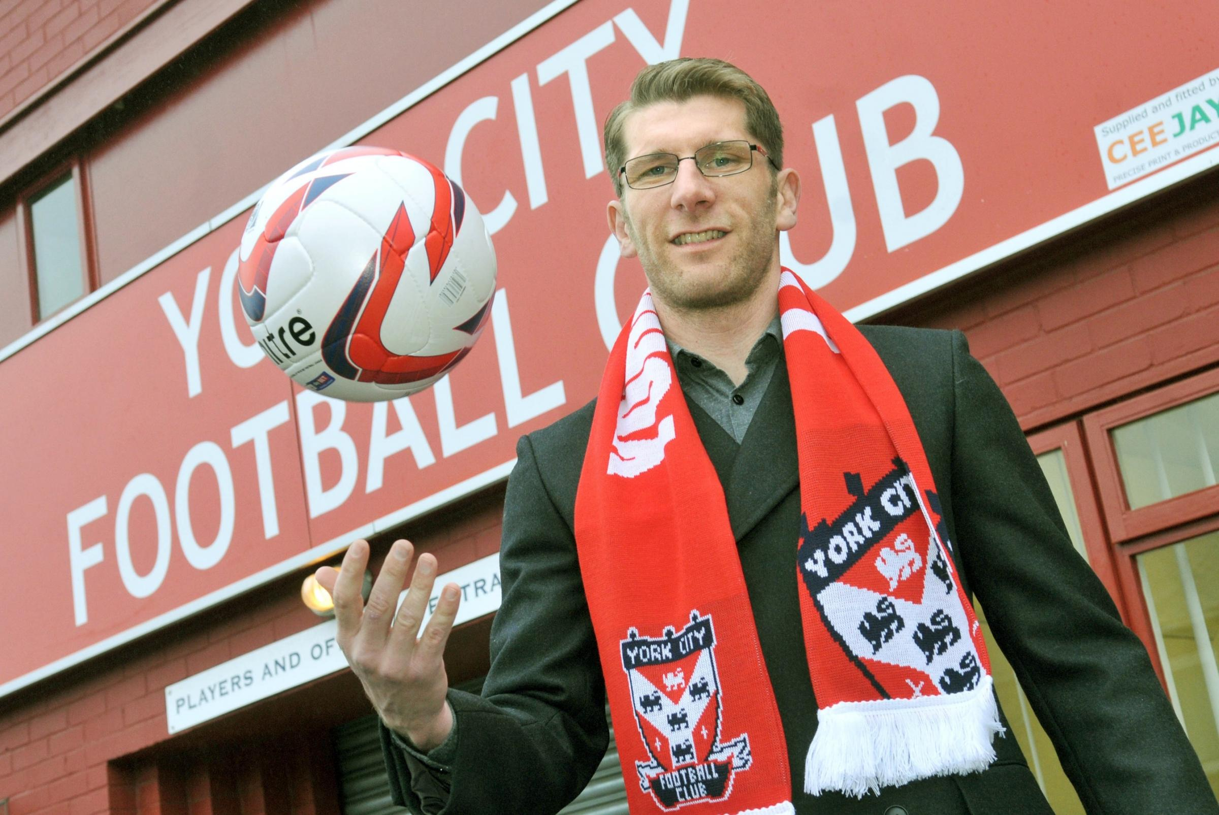 NEW BALL GAME: Richard Cresswell has been named as York City's caretaker manager following Russ Wilcox's sacking