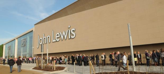Crowds queue ouside John Lewis at the opening of their new store