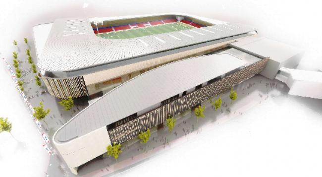 A previous artist's impression of York's community stadium - but new designs are now set to emerge this summer.