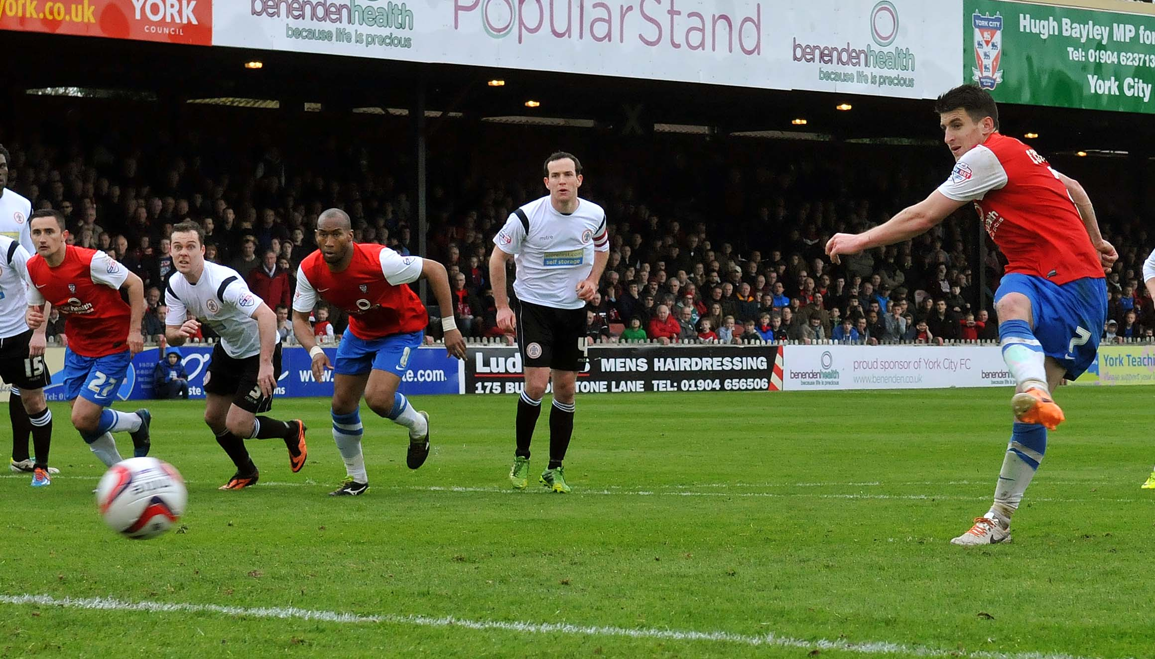 Michael  Coulson scores from the spot against Accrington Stanley