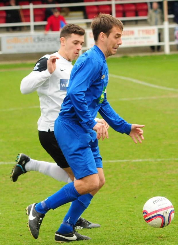 York Press: Pickering Towm V Heaor Town. Jamie Patterson in action. pic: Anthony Chappel-Ross (5377276)