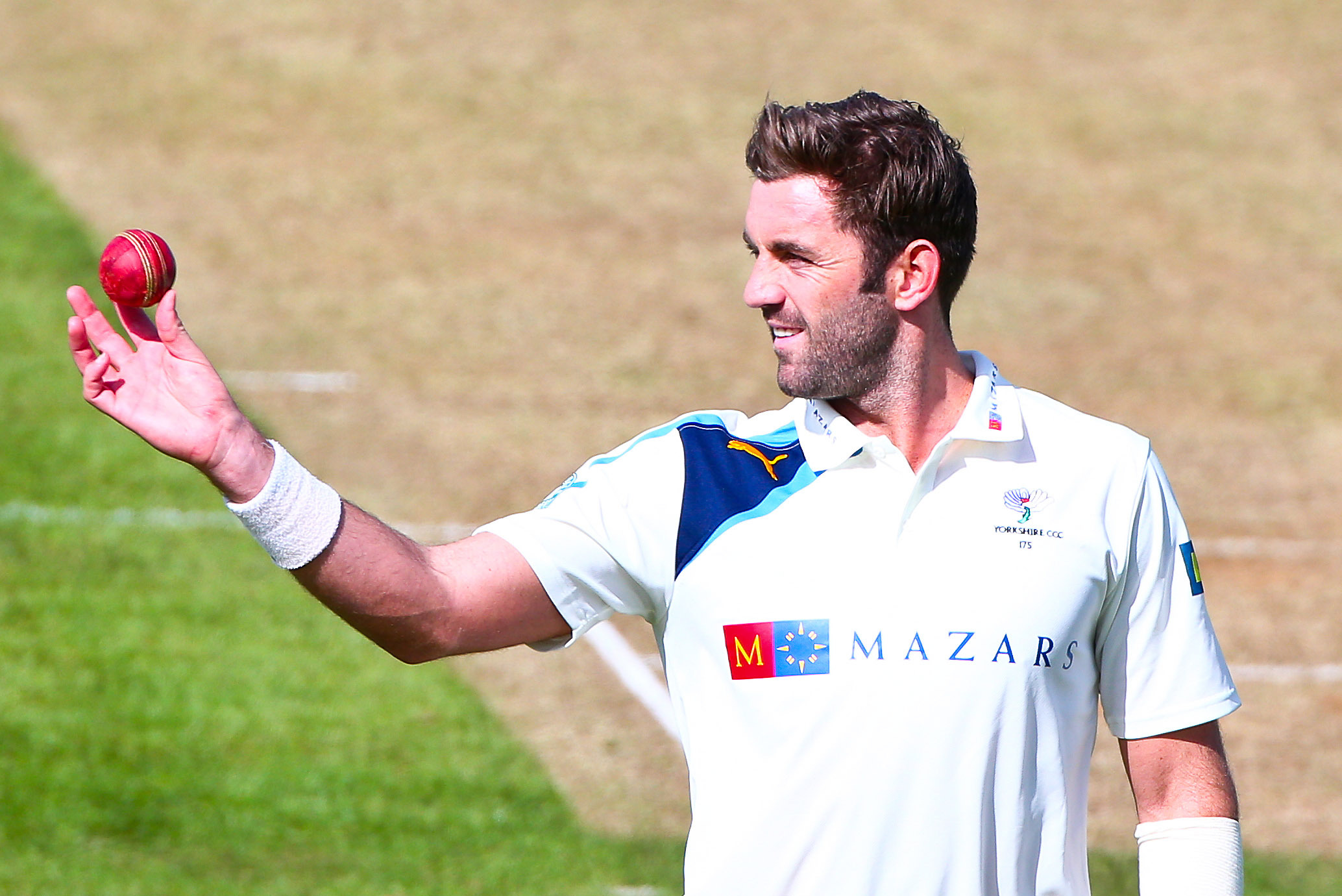 LATE WICKETS: Yorkshire seamer Liam Plunkett
