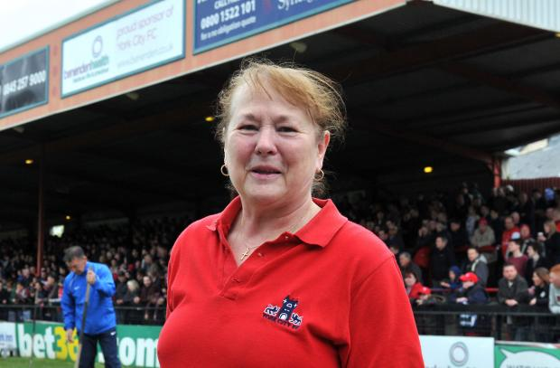 Community Pride nominee Maria Brewers at Bootham Crescent