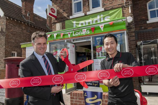 Julian Sturdy MP opens the revamped post-office
