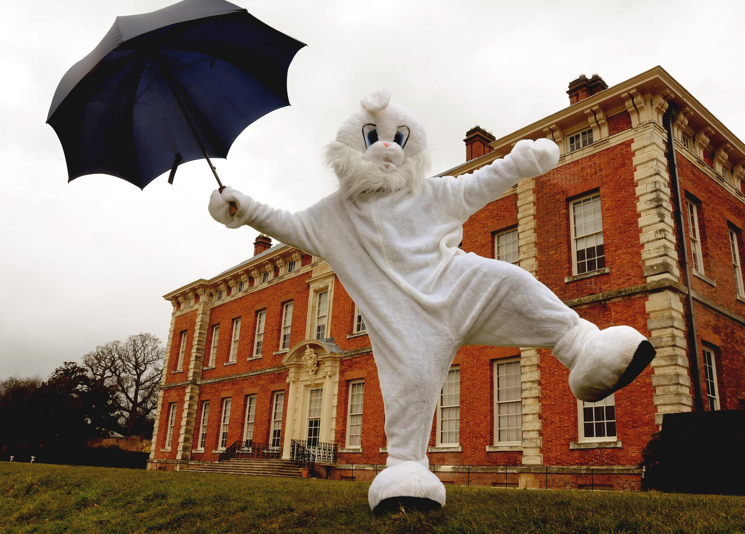 FUNNY BUNNY: The Easter Bunny will again be leading egg trails at Benningbrough Hall