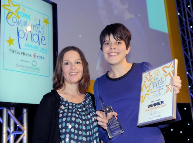 Health Service Hero 2013 Ellie Hodge (right) with Julie Wainwright of Clifton Park Hospital.                        Picture: Mike Tipping