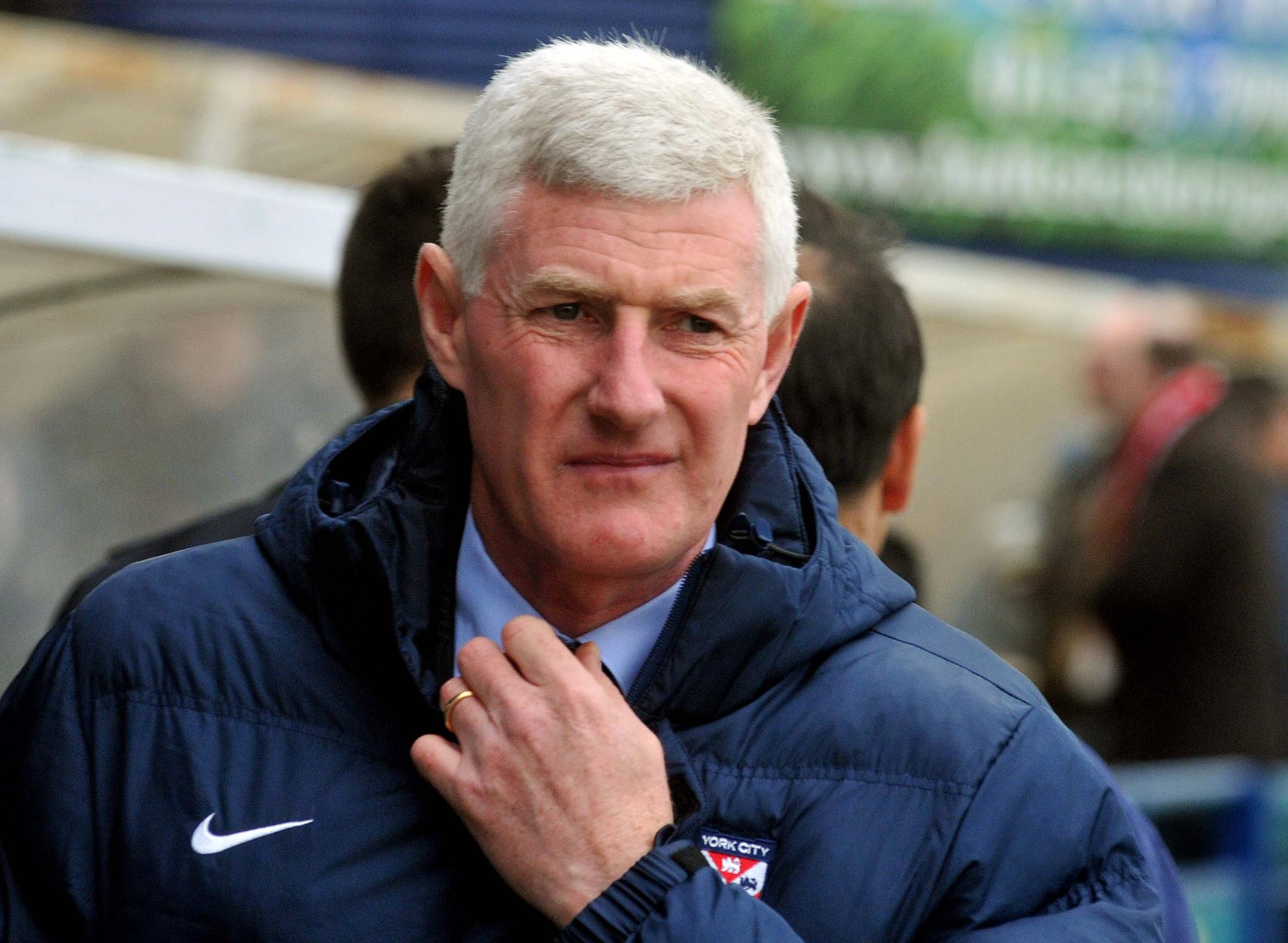 Nigel Worthington before the Accrington game.