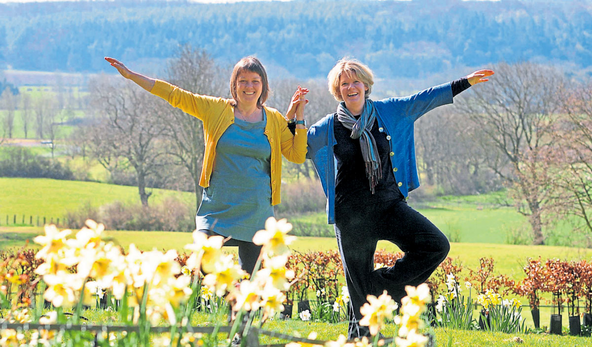 Jules Watson and Ruth Smith, who have founded a company offering yoga retreats at  Ampleforth Abbey