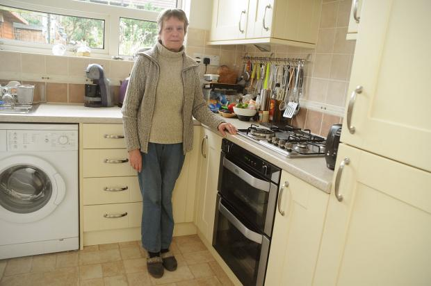 Shirley Hughes, 63, in the kitchen of her house in Barkston Avenue, Chapelfields, York