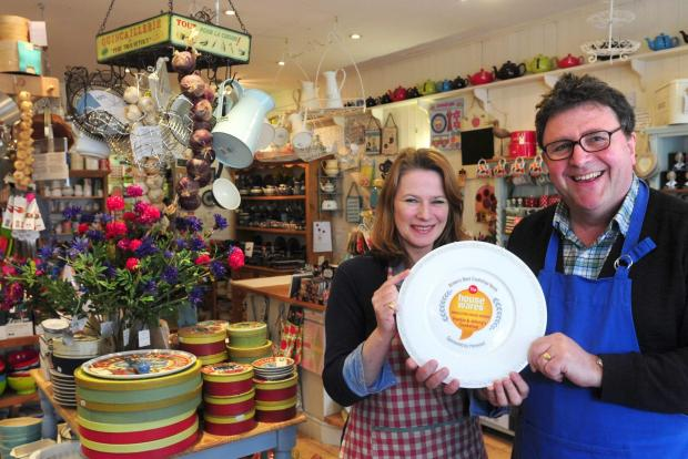 ACCOLADE: Frankie and Johnny Hayes in their award-winning cook shop in Bishopthorpe Road, York