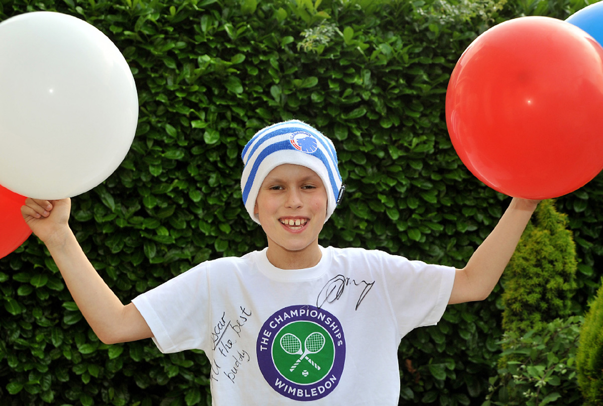 Oscar Hughes, of Dunnington, York, who has suffered a relapse from a brain tumour