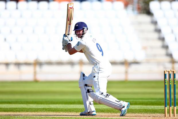 Yorkshire's Adam Lyth, who hit a half-century against Middlesex at Lord's