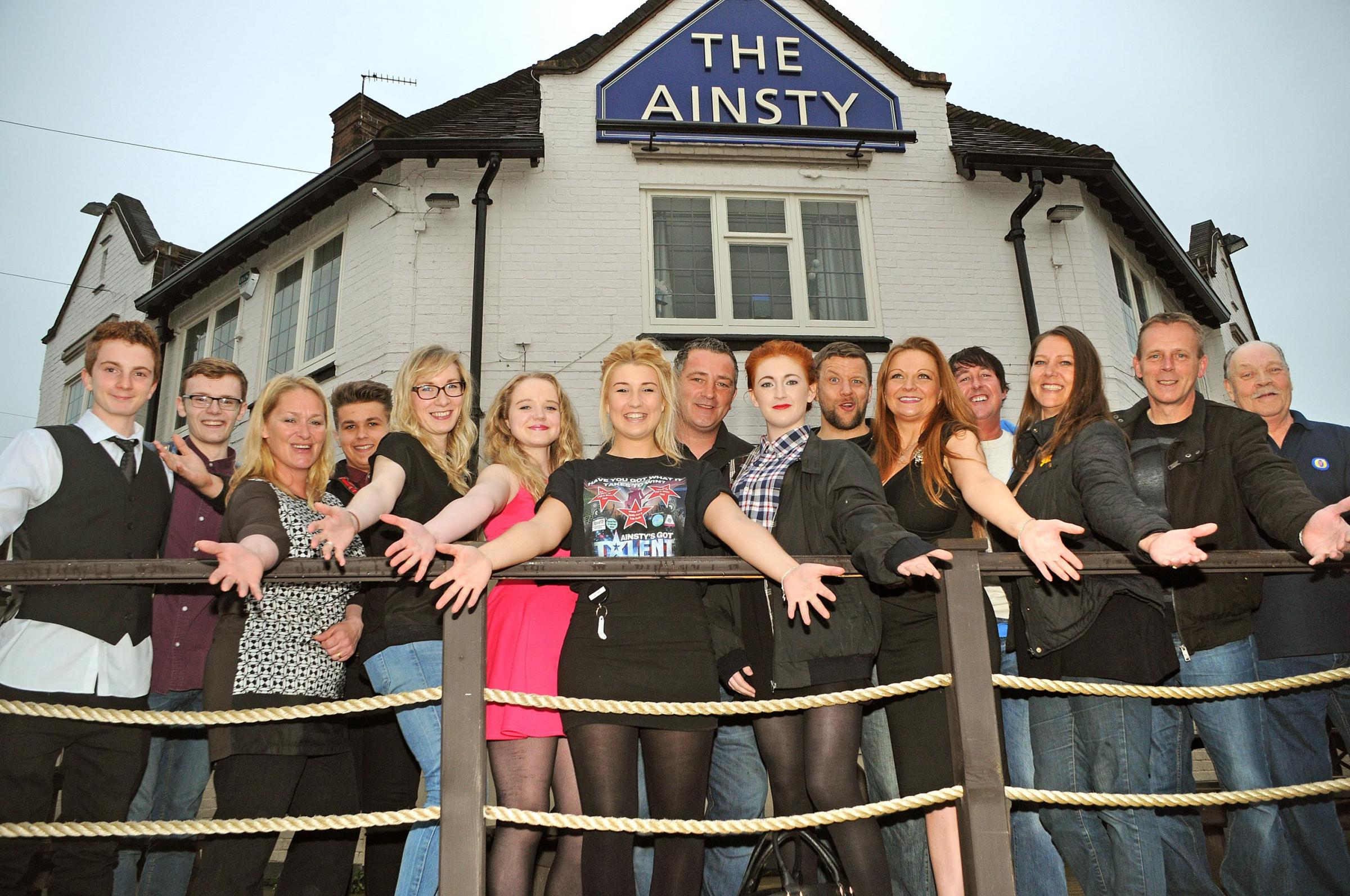 Contestants line up for the first round of the Ainsty Pub talent competition