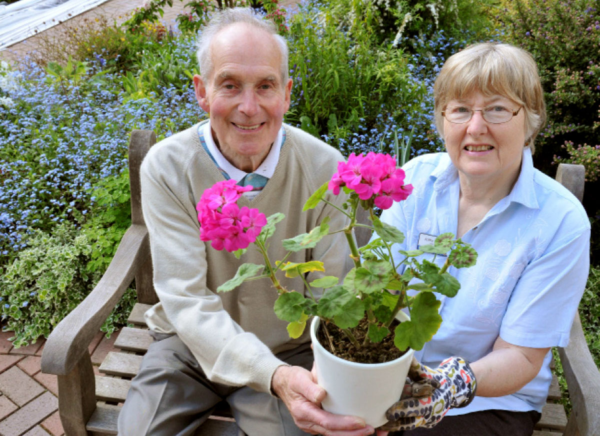 Volunteer gardeners Denys Woodworth and Kathy Pickard, who are getting ready for the pla