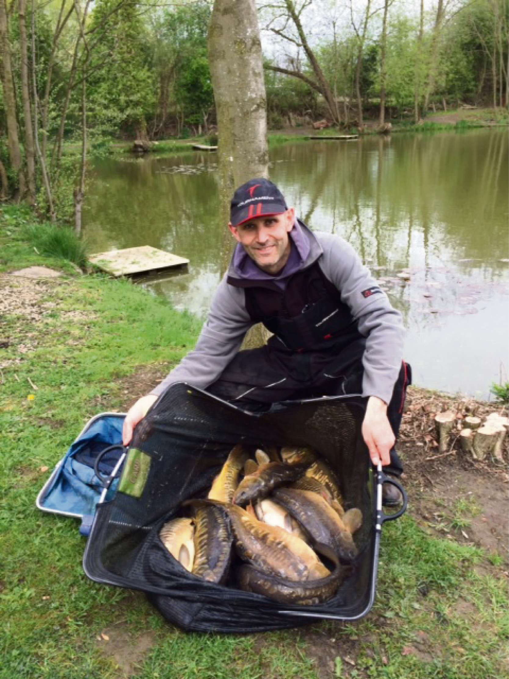 Grant Walker, winner of the Ray Thompson Memorial Fishing Match at Tollerton Ponds