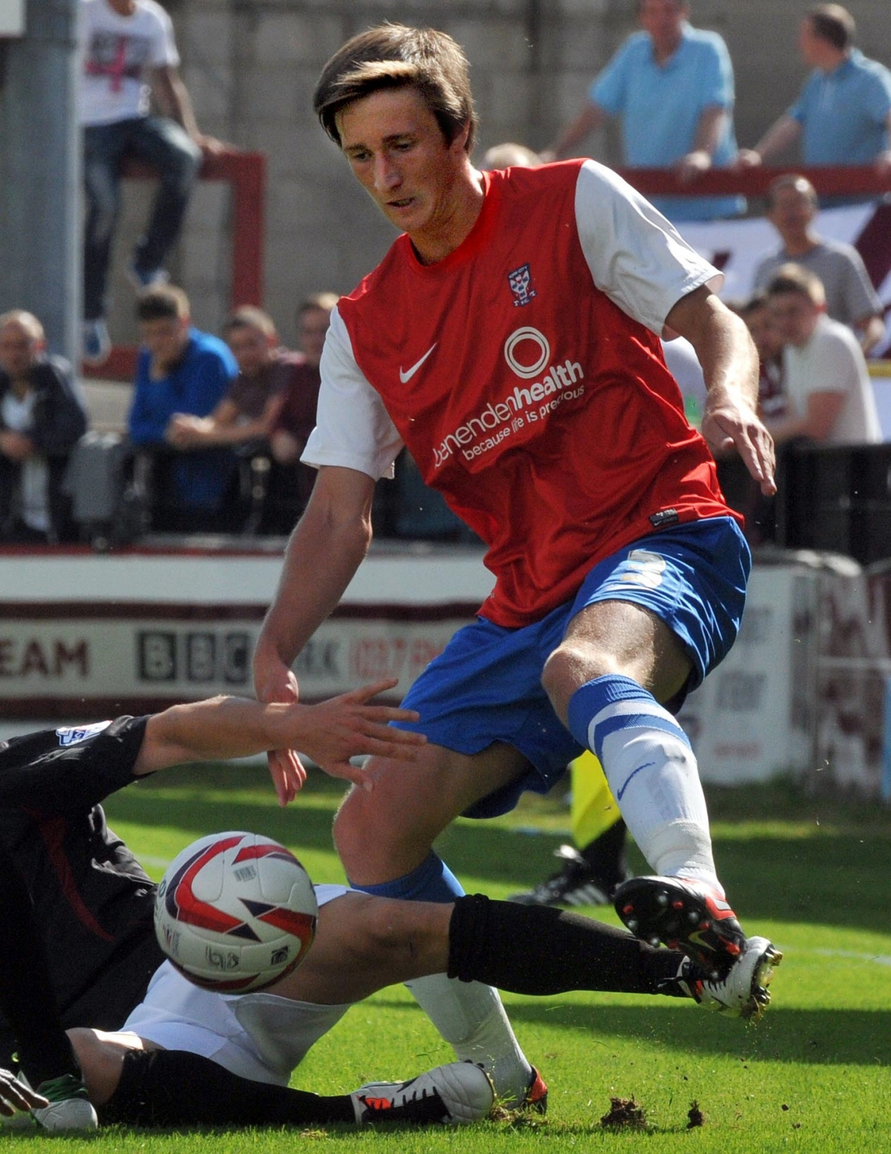 City left back Ben Davies in action against Northampton.
