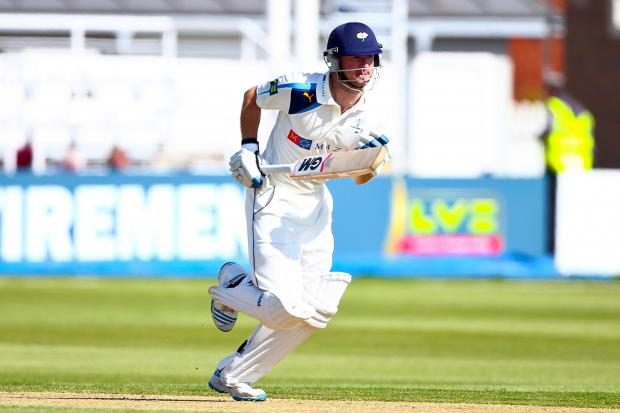 Yorkshire batsman Adam Lyth, who hit a century on day one at Durham