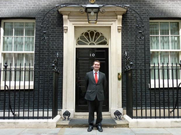Joe Riches, pictured outside 10 Downing Street