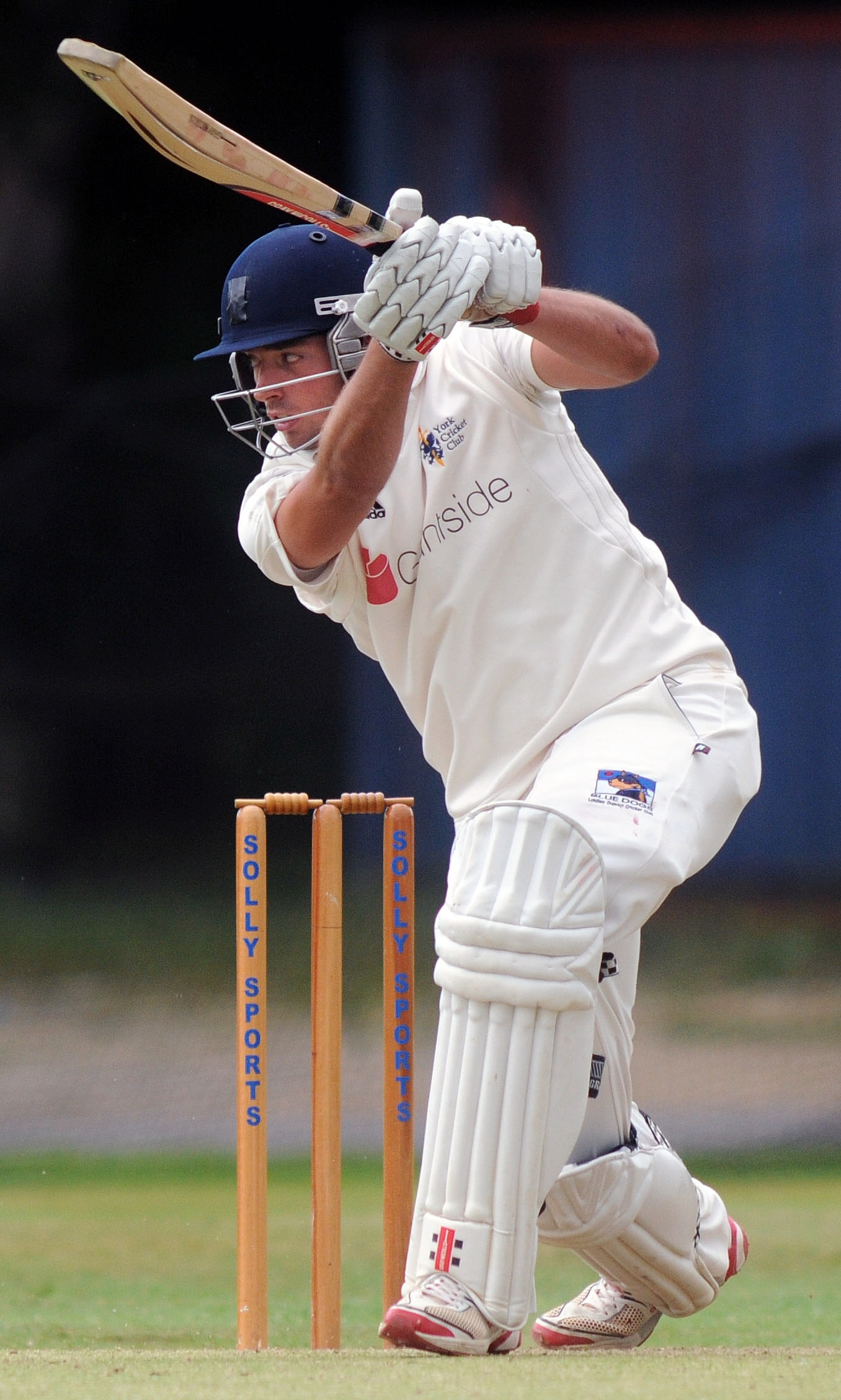 York opener Jack Leaning, who cracked an unbeaten century at Scarborough