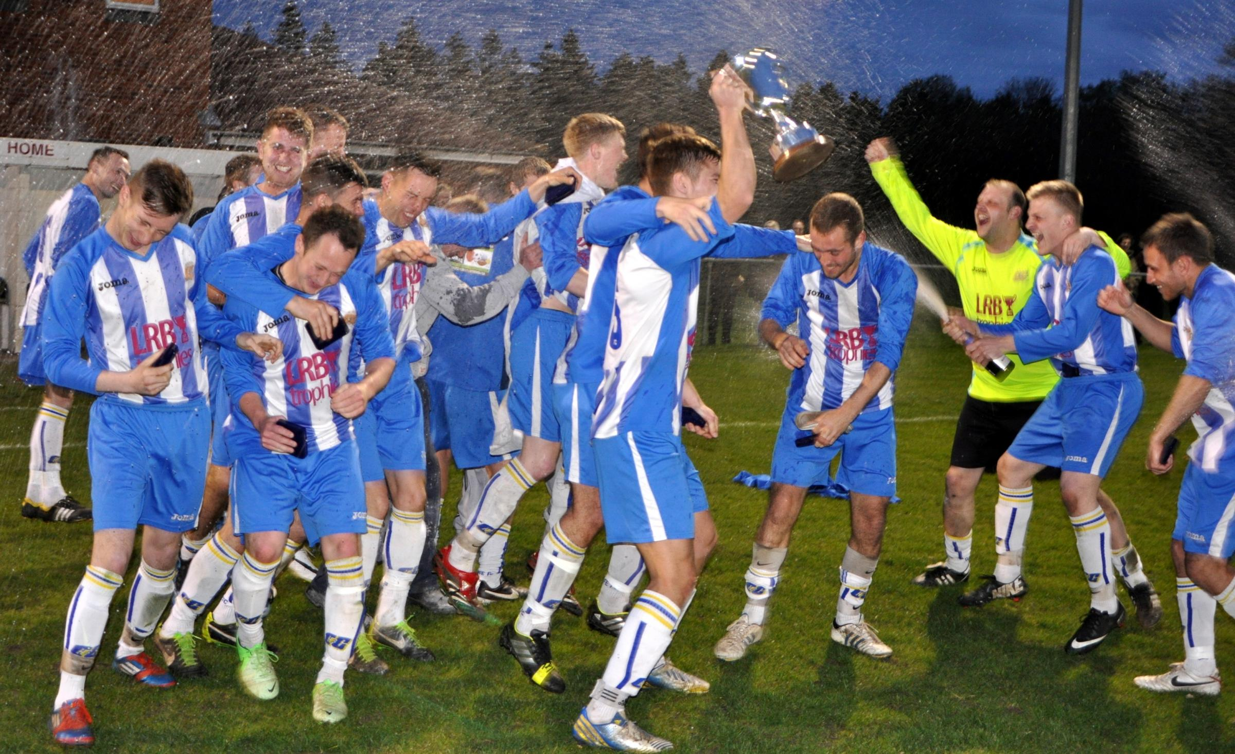 Cliffe FC celebrate their East Riding County FA Qualifying Cup win