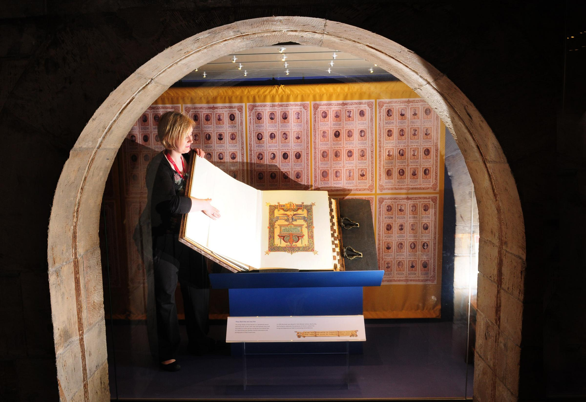 Book of heroes goes on display in York Minster