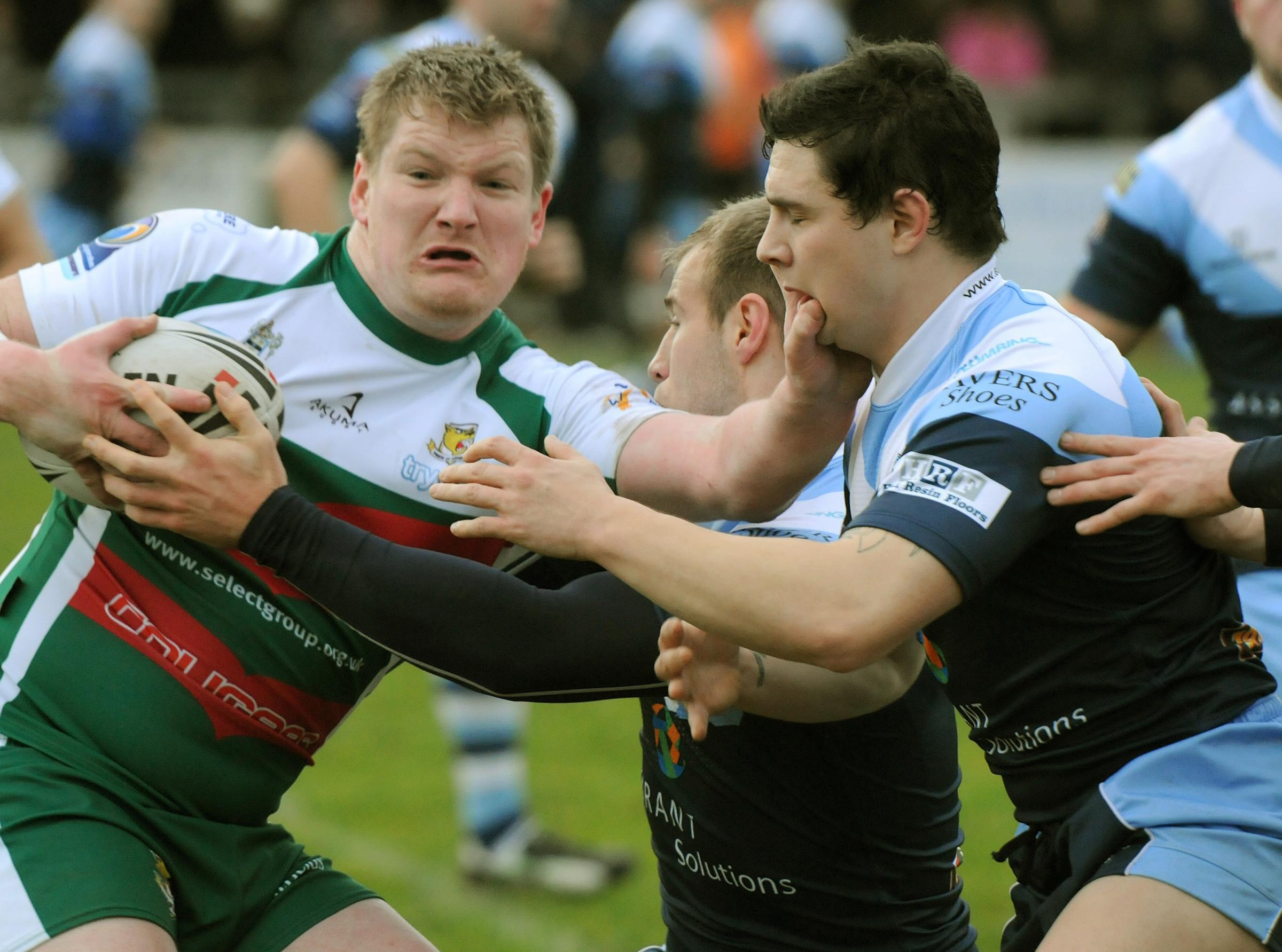 IN OPPOSITION RANKS: Chris Clough, left, the much-travelled former Knights second-row, who will play against York for Hemel tomorrow after joining the Hertfordshire club on loan from Hunslet