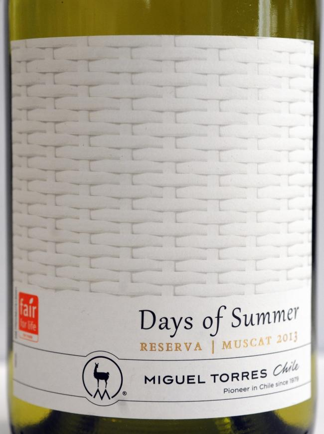 "Miguel Torres ""Days of Summer"" Muscat Reserva 2013, RRP £7.49"
