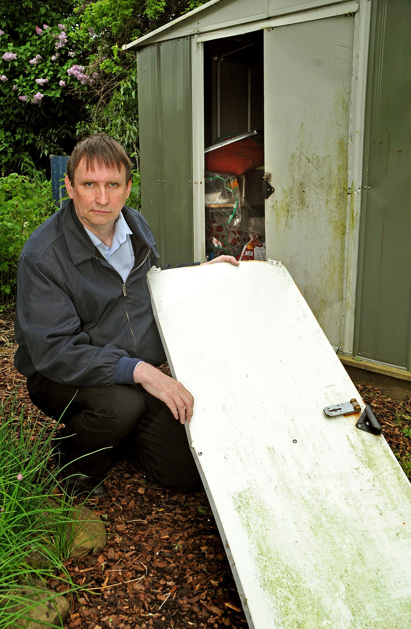 Mark Hunter at the damaged site