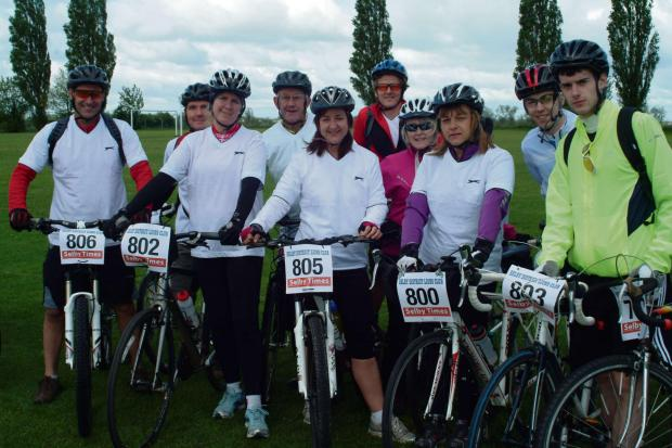 A group get set to depart at the Selby bike ride
