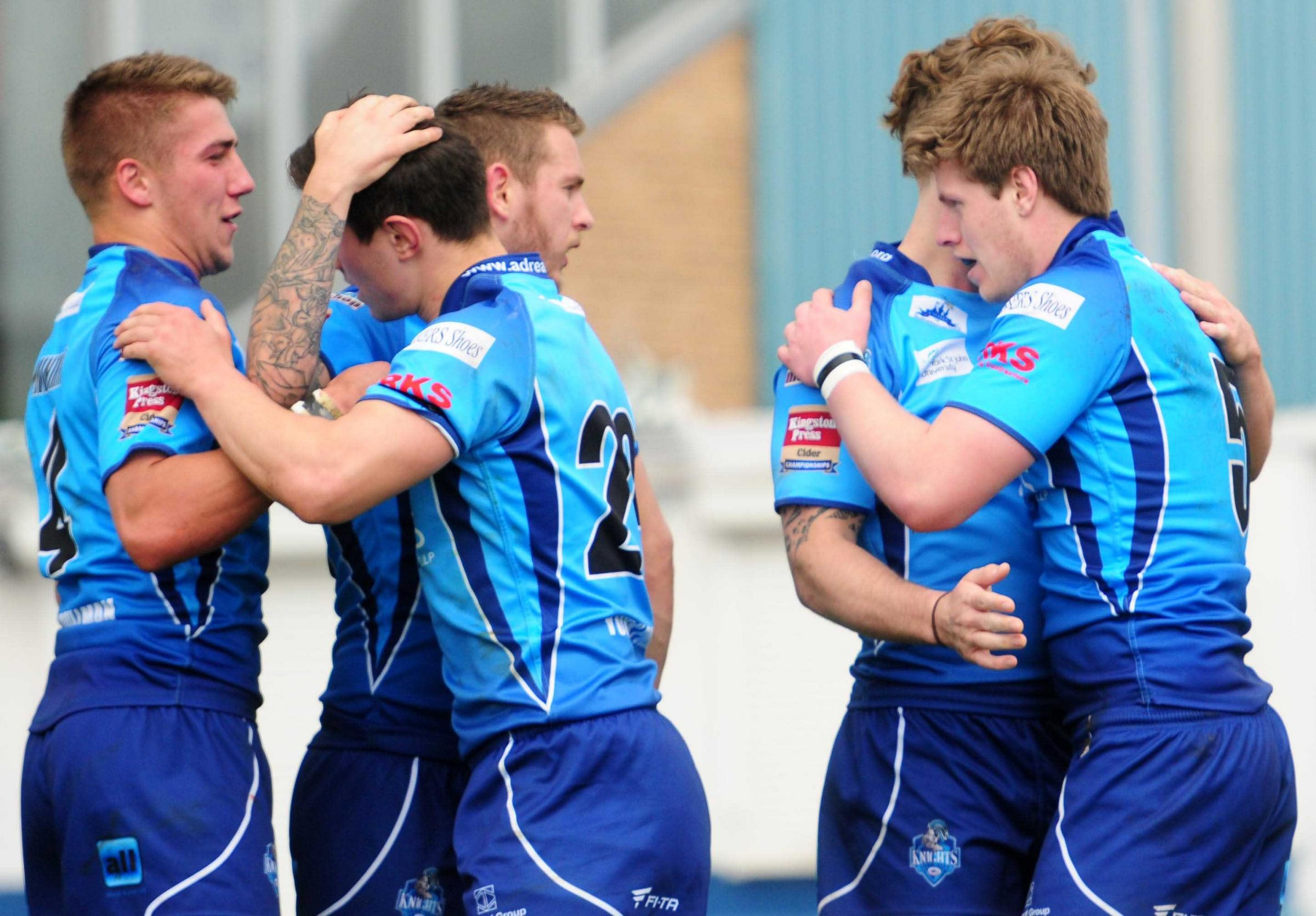 York City Knights 22, Hemel Stags 14