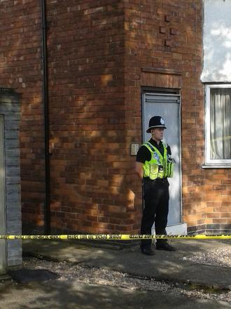 Police at the Burnholme Grove house last week