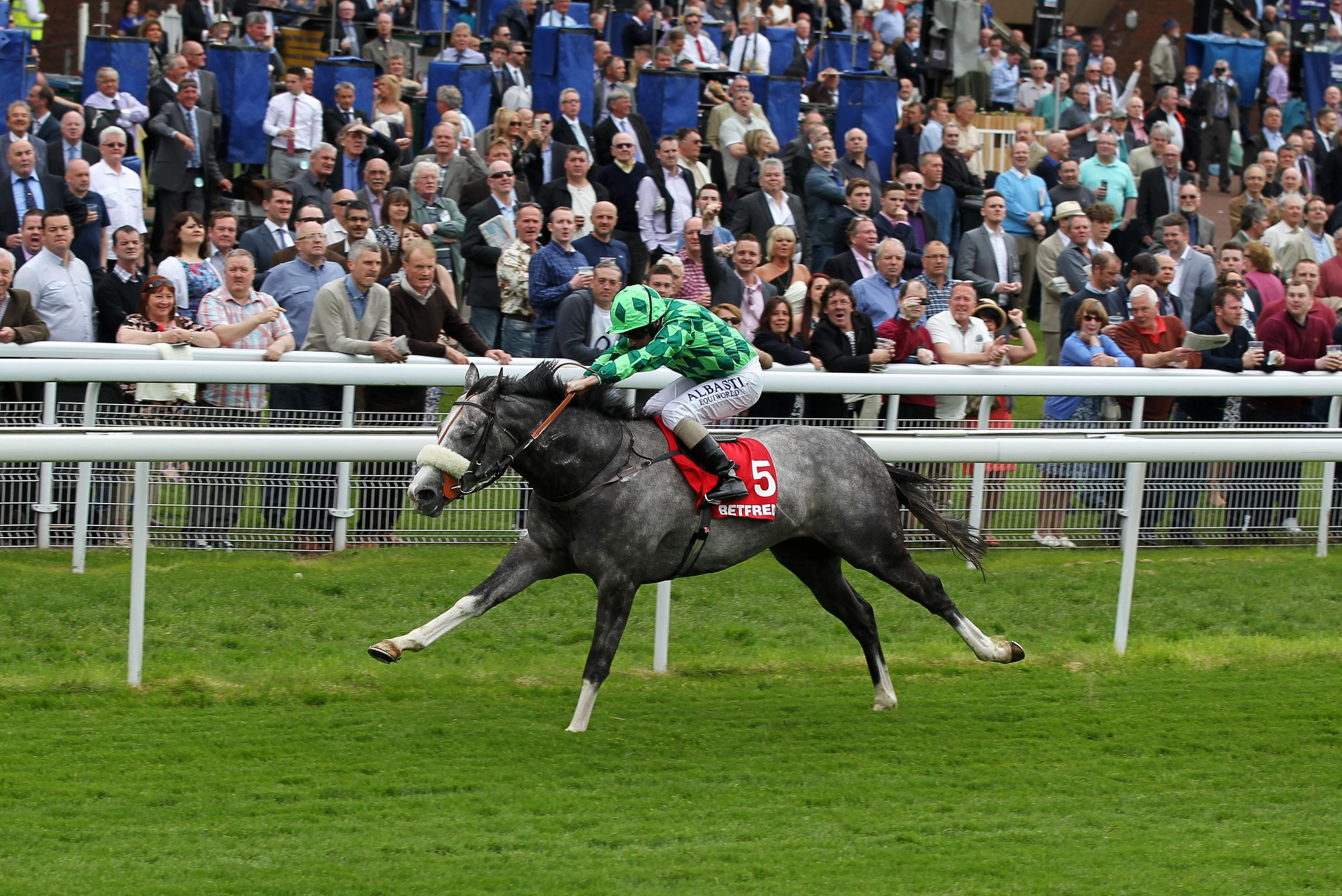 The Grey Gatsby ridden by Ryan Moore wins The Betfred Dante Stakes during day two of the Dante Festival at York Racecourse.