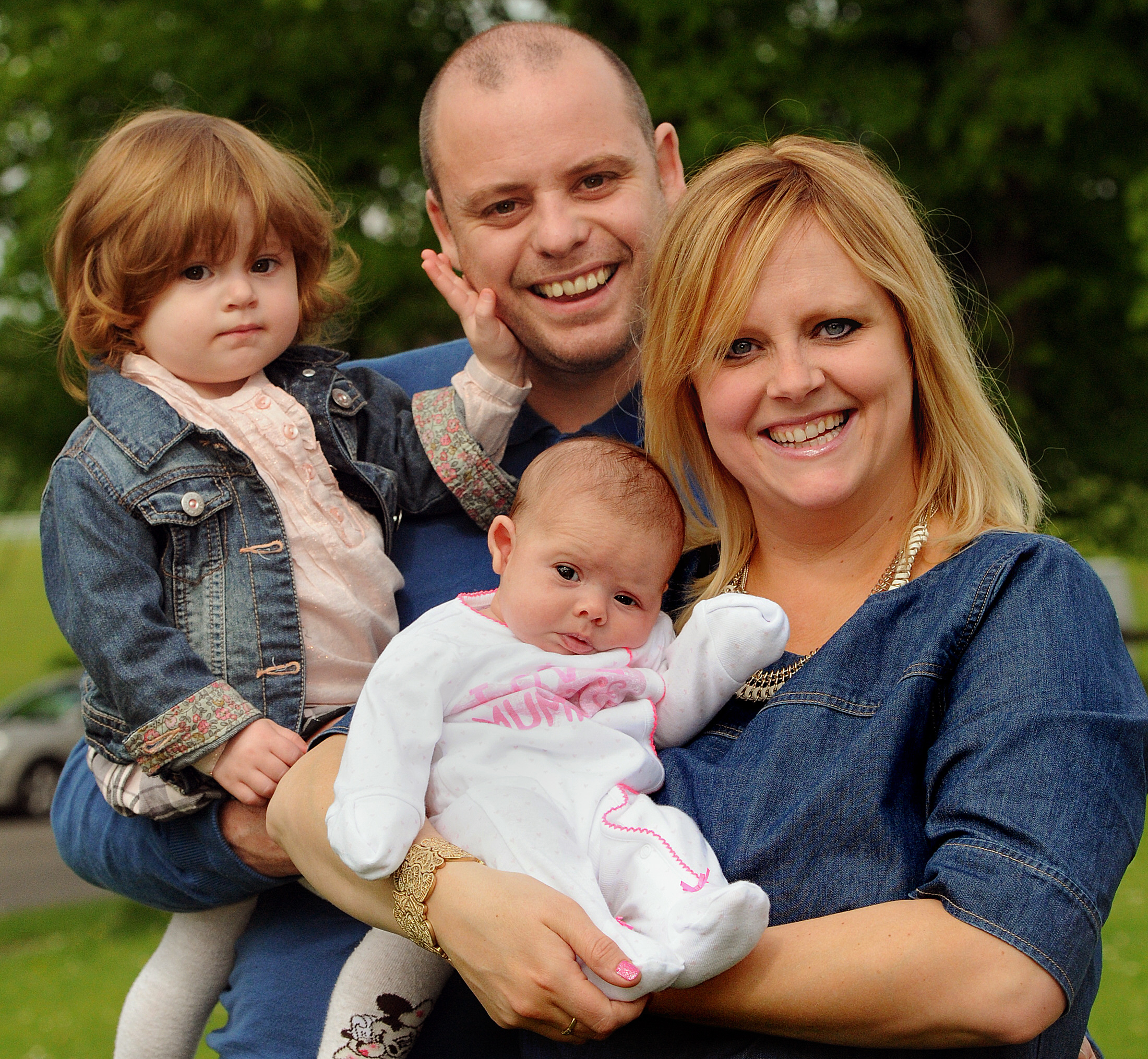 Katie and Stewart Ross, of Rossi pictures, with their children Molly-Mae, 17 months, and Lola, six weeks