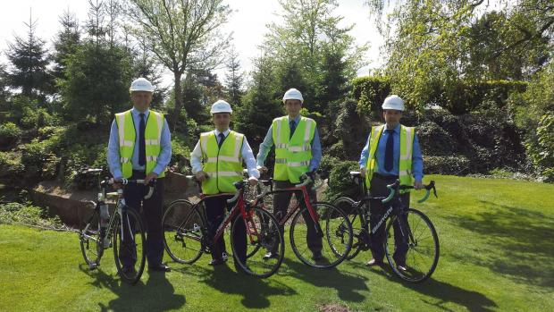 PEDAL POWER: Pictured, left to right, Paul Saunders, Jon Birkin, Richard Hosie and Simon Winship