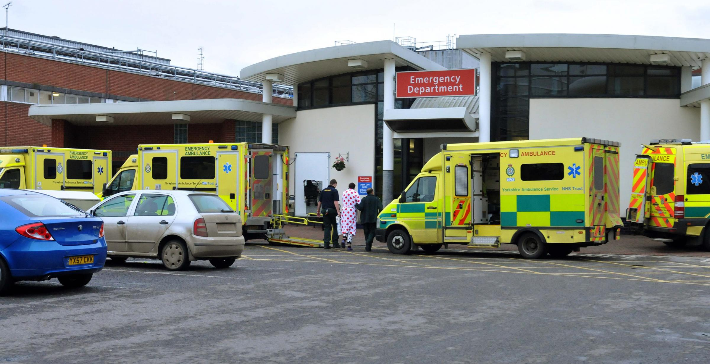 Ambulances at York Hospital.