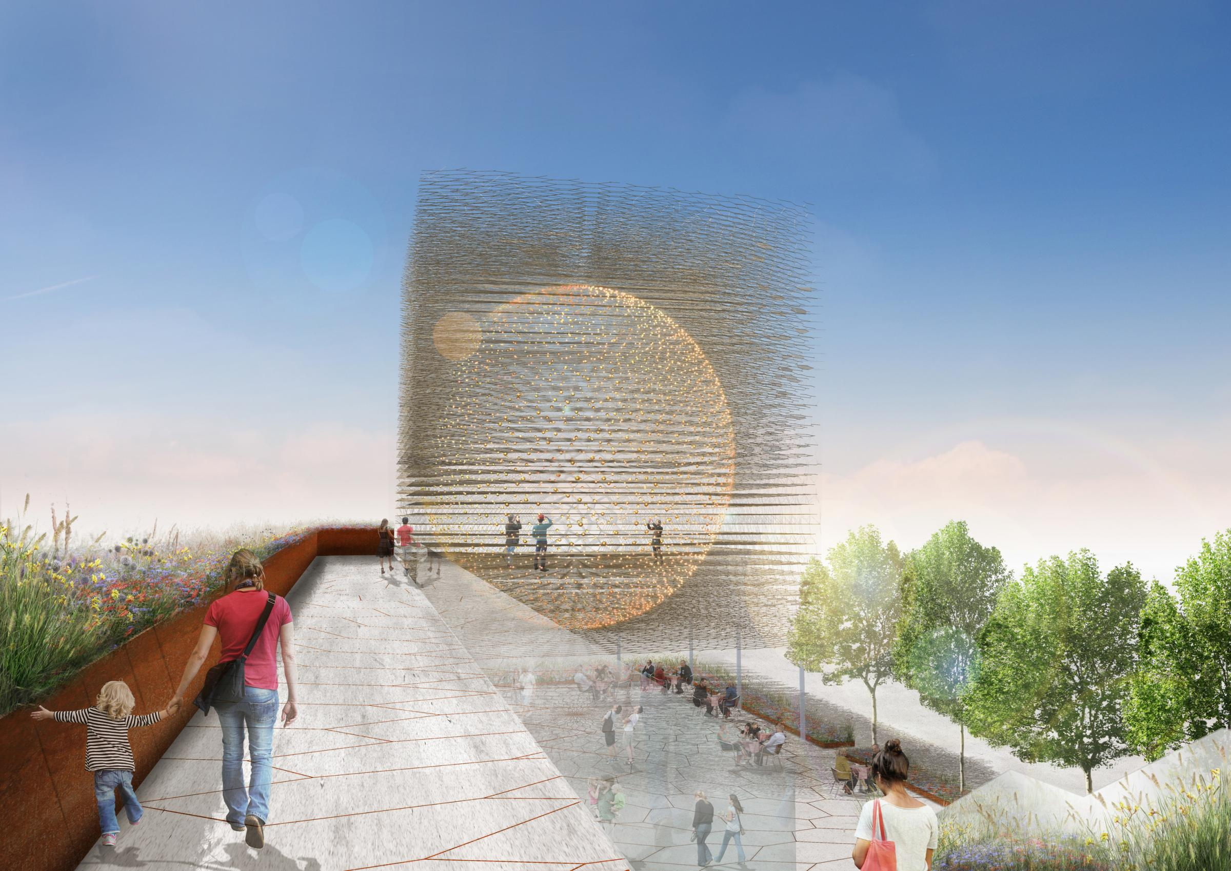 The UK Pavilion, to be built by Tockwith-based Stage One
